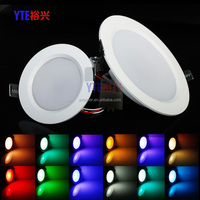 Factory RGB recessed led panle downlight 5w/10w LED RGB SpotLight LED ceiling Lamp 16Colors +Romote controller