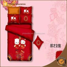 cat design woven technics children bed sheet