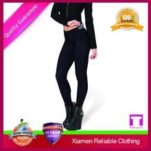 OEM high quality attractive anti pilling colorful black printed legging school girls