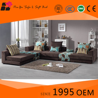 Warm and Sweet leather and fabric sofa sets for sale from original supplier