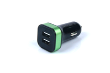 2USB usb car charger cigarette lighter adapte with CE, FCC, ROHS
