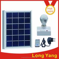 3W 6V 4000mah DC system home lighting panels solar light home Soft control solar lamp