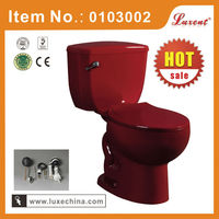 Chaozhou ceramic red colored toilet factory