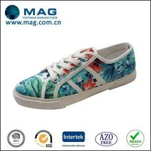 Customized hot sale women printed canvas shoes