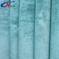 100% polyester green velvet fabric fleece warp knitting fabric with high quality but low price made in China Haining