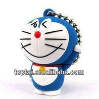 Promotional pvc doraemon usb flash drive from china for gifts
