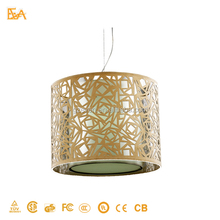 2015 new Special Art creative hollow out nest design chrome pendant lamp with handcrafts