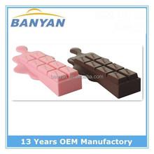 High quality cholocate silicone rubber door wedge,swing door stop