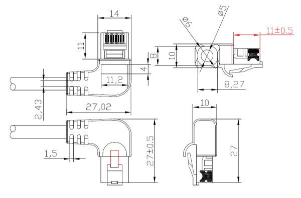 wholesale l shape rj45 patch cord l shape ethernet cable