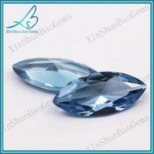 2*4mm Wuzhou Wholesale Marquise Cut Synthetic Spinel Aquamarine