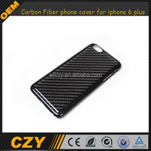 Slim plastic Cover with real black Carbon Fiber phone cover for iphone 6 plus