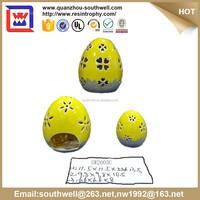 Colorful egg candle holder ceramic Easter Gift and porclain egg shape candle holder