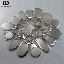 Wholesale Customized logo Square Oval Blank Metal Keychain