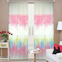 M2287 New designs curtain printed blackout ready made curtain best blackout curtains eyelet top curtain tab top curtain