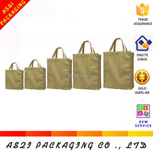 Yiwu factory customized printable button shopping bag promotion with different sizes