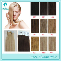 """New Arrival 40pcs 100g/pack Silky Straight Hair Weaving PU Skin Weft Tape in Hair 16""""-26"""" 100% Real Human Hair Extensions"""