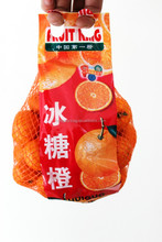 good quality PE knitting mesh bag for fruits orange