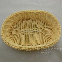 Oval shape plastic food storage basket gift basket folding fruit basket