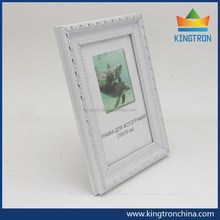 The most popular european style PS moulding plastic picture frames in elegant white for wedding picture