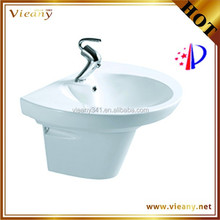Wall mounted ceramice wash basin white color in the Middle East