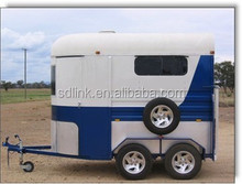 China made high quality 2 horse straight load horse float horse trailer deluxe model