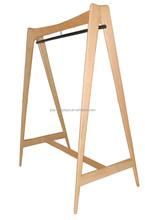 Metal &wood clothes display rack