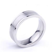 Best Price Multi Colorful Titanium Silver 316L Stainless Steel Indonesia Men Titanium Rings for wedding