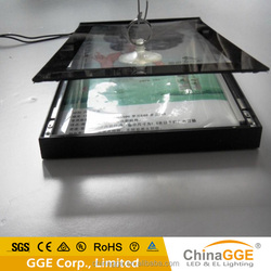 Ultra slim low attenuation light box with magical magnet open type frame
