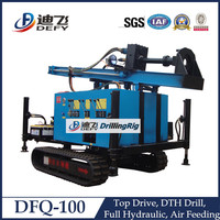 Quarry Drilling DFQ-100 DEFY Crawler Mounted Borehole Drilling Rig for Sale