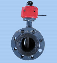 DN50 Double flanged concentric disc Butterfly Valve vulcanized EPDM seat