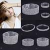 wholesale new luxry crystal row bracelet Stretch smart bracelet 2015 bridal link bracelet jewelry
