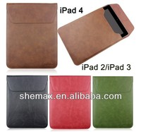 Hot selling stand Envelope type leather case for iPad 2 3