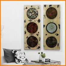 Poly maple retro geometric styling iron decorative wall hanging / wall decorative ornament school classroom