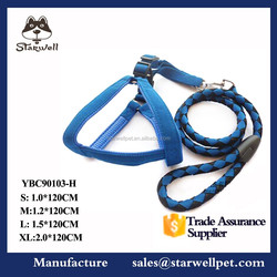 China weighted nylon firm pet dog harness and leash