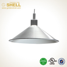 gas station style modern hanging shell lamps