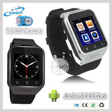 Perfect MTK6572 Dual Core 512MB 4G Memory touch screen watch mobile phone android wifi 3g china goods with Single micro sim card