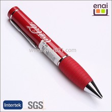 quite fat stylish metal twist ball point pen with rubber gripper for cola drinking promotion