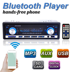 2016 Brand New 12V BLUETOOTH 1-Din Stereo Radio MP3with USB/SD MMC Port Audio Player Car in Dash 60Wx4