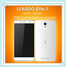 Latest Leagoo Elite 5 Android 5.1 2GB RAM 16GB ROM MTK6735 Quad Core 5.5 inch 4000mAh China 4G LTE Smartphone