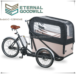2015 hot sale Electric Three wheel Cargo Bike/Cargo tricycle/UB9036E