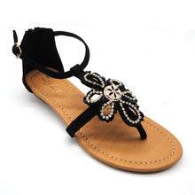Stylish PU women summer sandels abaya flat shoes 2014