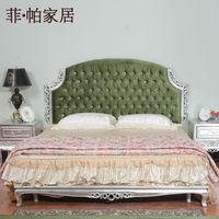 neoclassical furniture - silver foil leaf gilding hand carved bed