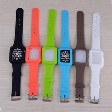 New Arrival colorful for iphone watch 38mm 42mm wrist band for apple watch strap 2015