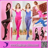 2015(WMY8607) Newest Design Women Full Body Black Nylon Pantyhose