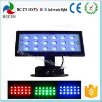 IP65 Outdood led stage lighting 18x3w led wall washer party decoration