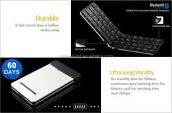 2.4GHZ mini wireless keyboard An ultrathin folding keyboard easy to put in your pocket