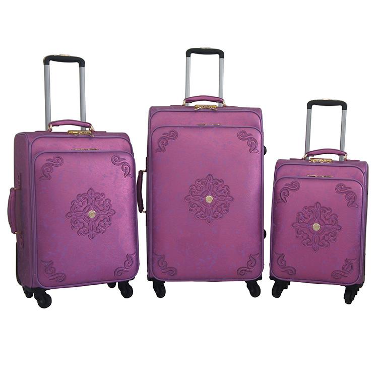 2017 thiết kế mới nhất lady phong cách citi xu hướng trường hợp hành lý 19 23 26 inch 3 cái bộ đi du lịch túi hành lý