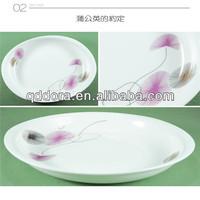 stock plain white lates,cheap dinner plate,plates porcelain different shapes white