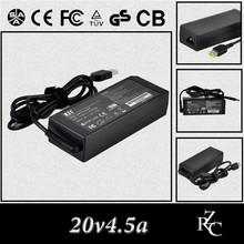 20v4.5a 90w Factory sell power dc ac Adapter for lenovo