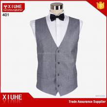 Classic 100% Polyester Grey Color Fashion Men's Waistcoat
